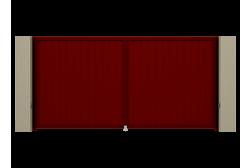 Распашные ворота Alutech Prestige 3500х2000
