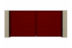 Распашные ворота Alutech Prestige 4000х2000