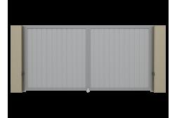 Распашные ворота Alutech Prestige 3400х2000
