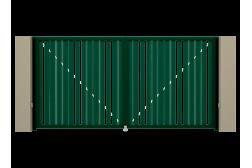 Распашные ворота Alutech Prestige 4400х2000