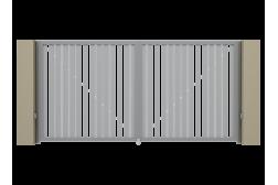 Распашные ворота Alutech Prestige 3700х2000