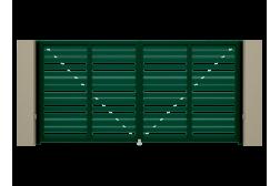 Распашные ворота Alutech Prestige 4500х2000