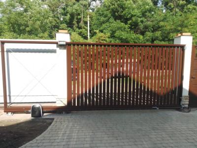 Откатные ворота п.Камышеваха