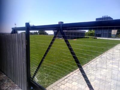 Откатные ворота с автоматикой Alutech ROTO и фотоэлементами