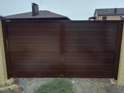 Распашные ворота Alutech Prestige 68мм