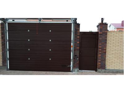 Секционные ворота и калитка