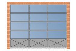 Секционные панорамные ворота AluTherm 3500х2750