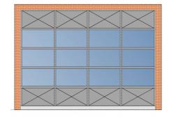 Секционные панорамные ворота AluTherm 4000х3000