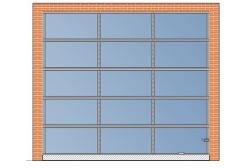 Панорамные ворота AluPro 3000x2700