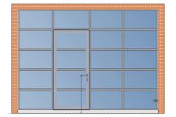 Секционные панорамные ворота AluPro 4000х3000