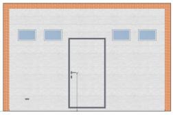 Секционные ворота ProPlus 4000х3000